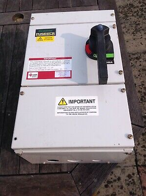 Crabtree Fusestar 100 Amp TP+N 3 Phase Combination Switch Fuse Unit
