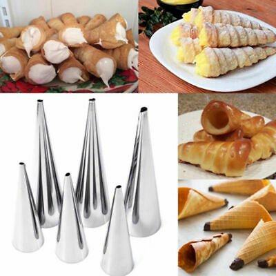 1pcs Stainless Steel Spiral Horn Cream Pastry Baking Croissant Bread Cake Mold