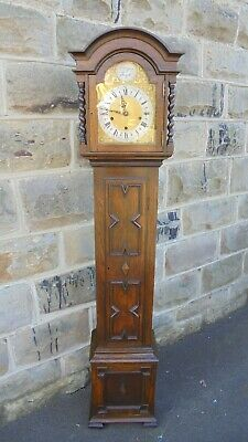 Quality Antique Oak Granddaughter Clock