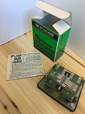 Optomax three way film splicer - Made in Japan, boxed and with instructions