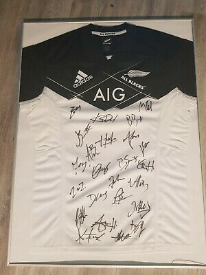Maillot rugby all blacks dedicace