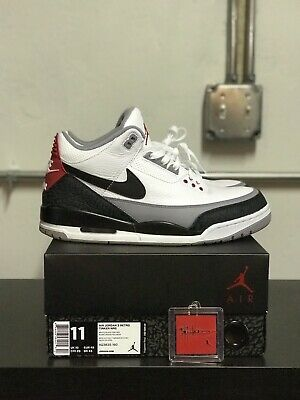 43a39186f58 PRE-OWNED** AIR JORDAN III 3 Retro Tinker Nike NRG US Mens Sz 11 ...
