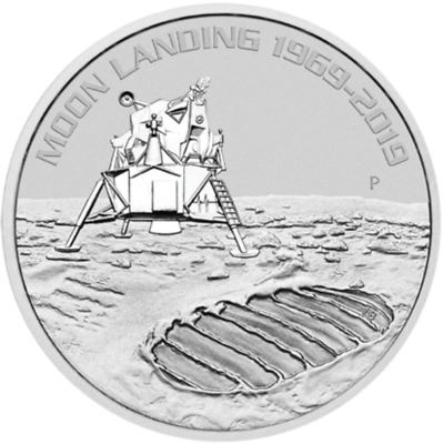 2019 50Th Anniversary Of The Moon Landing Australie Oz Argent Silver Oz Armstong