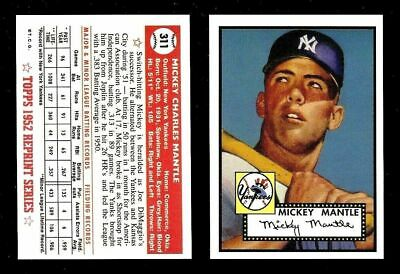 1952 Topps #311 Mickey Mantle Rookie Rc Rp Reprint Baseball Card!