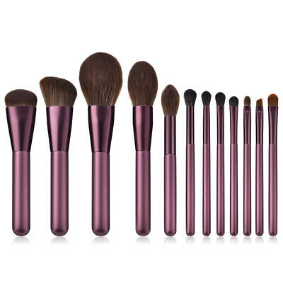 12Pcs Powder Blusher Foundation Kabuki Makeup Brushes Set Kit Cosmetics Tools