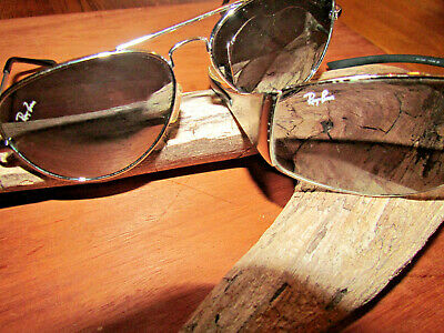 7e0e4facf9e Ray Ban Sunglass Lot (2) Aviator Polarized   Rb3268 Heritage Malta Shades  Repair