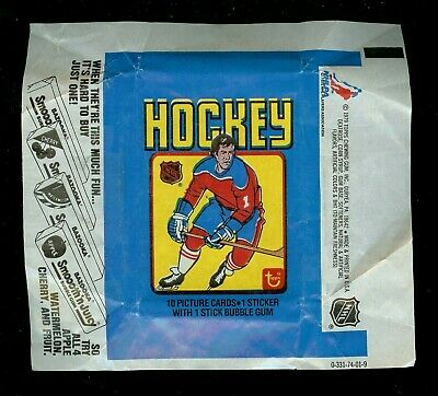1979-80 Topps Vintage Hockey Wax Pack Card Wrapper! Gretzky Rookie Year!