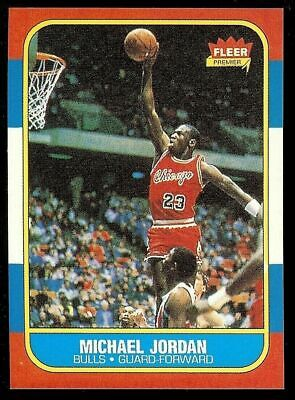 1986-87 Fleer #57 Michael Jordan Rookie Rc Reprint Rp Basketball Card!