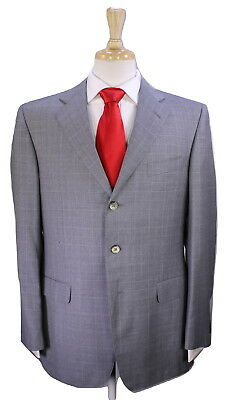 e4b04f526a1a8 DUNHILL * Bespoke by Zegna Recent Gray Windowpane 3-Btn 130's Wool Suit 40R