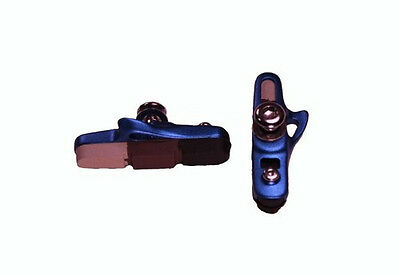 Shimano Sram style Caliper Brake shoes & pads Blue or Red Set of 2 New