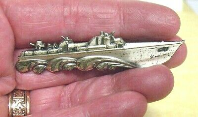 Antique Rare German Empire 800 Silver Niederwalddenkmal Germania Spoon Brooch The Latest Fashion Antiques