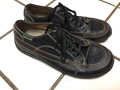 3f2045050a7 EASTLAND Black Brown Leather Athletic Lace Up Casual Oxford Shoe SZ 5.5 M