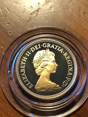 1984 Great Britain Proof 1/2 Sovereign ~ Brilliant Uncirculated