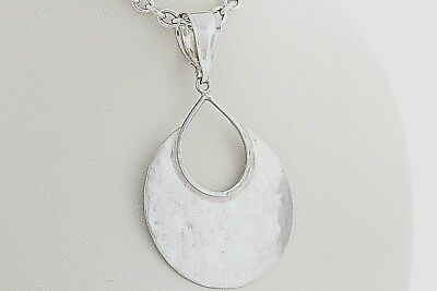 Silpada Hammered Hand Crafted 'Crescent Drop' Sterling Silver 925 Dangle Pendant
