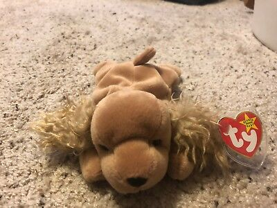 3031b8ee4bc 1997 Rare Retired Spunky The Dog Cocker Spaniel Ty Beanie Baby PE Pellets