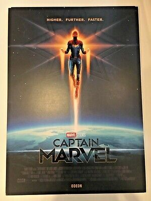 CAPTAIN MARVEL Odeon A4 movie poster - Marvel (2019) - Higher, Further, Faster