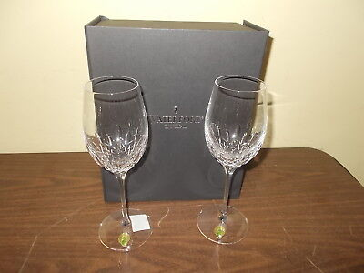 Waterford Crystal Lismore Essence White Wine Glass, Set of 2- NEW IN OPEN BOX!