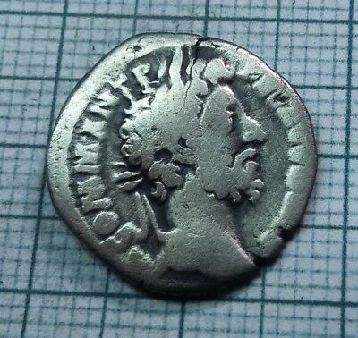 Original Ancient ROMAN SILVER COIN denarius Commodus / Commod  138-161 AD. #0020