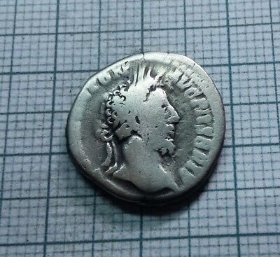 Original Ancient ROMAN SILVER COIN denarius Commodus / Commod  138-161 AD. #0019