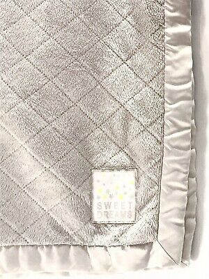 Child Of Mine Carters Baby Blanket Sweet Dreams Diamond Sherpa Gray