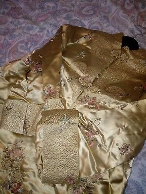 Genuine Antique Japanese Gold Silk Kimono Jacket C1940