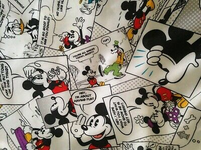 2bea145f4e4 Walt Disney World Parks Mickey Mouse Comic Cinch Bag Drawstring Backpack  Tote
