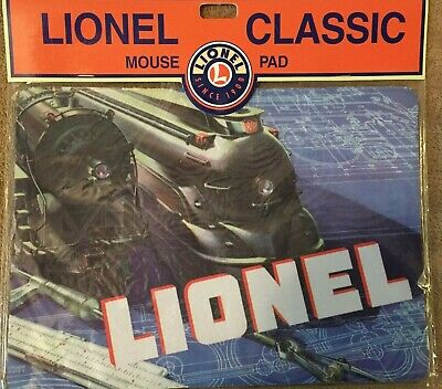 "NEW Lionel Train Classic Mouse Pad Blue 1936 Train Image Large 9.5"" x 7"""