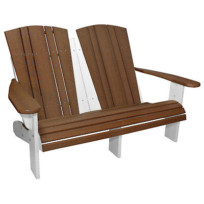 New Harbor Collection Fixed Double Adirondack Chair