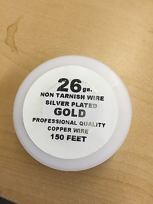 26ga NON TARNISH SILVER PLATED GOLD COPPER WIRE 150FT 4 DIY Craft Jewelry Making