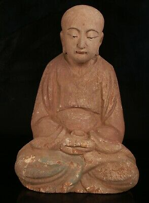 Chinese Wood Buddhist Statues Hand-carved Bodhisattva Spiritual Gifts Collec M Antiques China