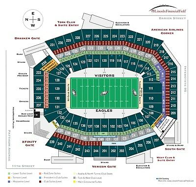 2 PHILADELPHIA EAGLES 2019 Season Tickets Section M10 Row 14 Aisle Seats 10 Game