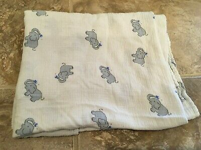 aden anais muslin swaddle elephants spraying water  RARE
