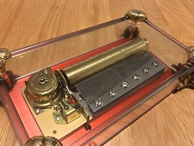 Vintage REUGE Swiss Cylinder Musical Box 3 Airs 72 Note