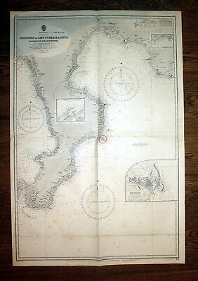 1957 South Coast Italy Policastro Cape Maria Du Leuca Italia Italien map