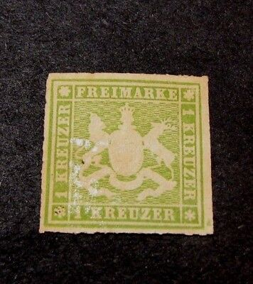 Germany Wurttemberg Scott# 41  Coat of Arms 1865-68 MNG  C408