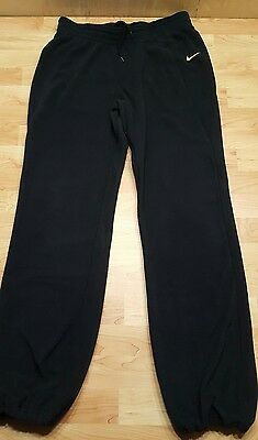 7c39a23469 NIKE FLEECE PANTS MENs SIZE Large BLACK THERMA-FIT TRAINING running gold  swoosh