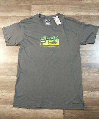 6591f3cf9c PELAGIC PREMIUM SHORT Sleeved Deluxe Fishing Tee T Shirt NWT L Large ...