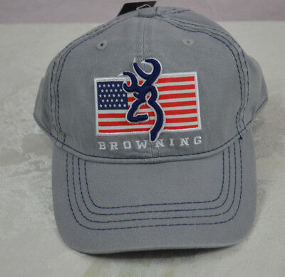 half off 9bace 93025 Browning Shooting Sports pride gray flag Adjustable Baseball Style Cap Hat  grey