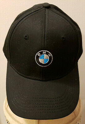 fe820bf9a00 BMW lifestyle baseball hat cap embroidered logo advertising black  adjustable new