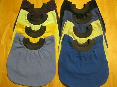 """8 Infant Bibs 9"""" neck Pull Over Head T-Shirt special needs drool cotton blend"""