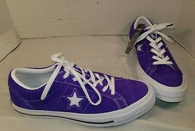a8e1faa572 New Converse One Star Purple Ox Suede Lo Top Sneakers Size Men's 7 Women's 9
