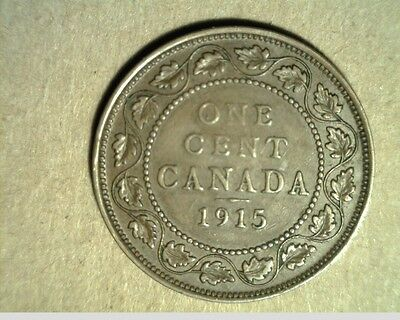 1915 Canada, Large Cent, High Grade Bronze Coins (Can-417)