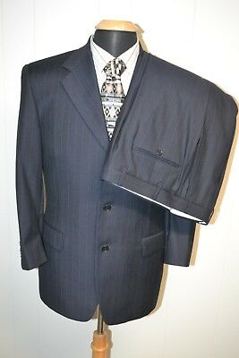 Canali Proposta Men's 3 Front Button Pinstriped Wool Suit Sz 38S Wst 30X29