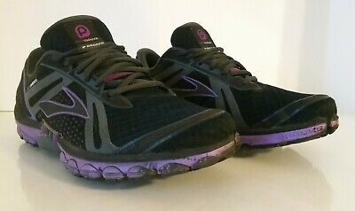 d9f3ba429cd Brooks Pure Cadence Running Sneakers Women s Size 10 M Black Grey Purple  Shoes