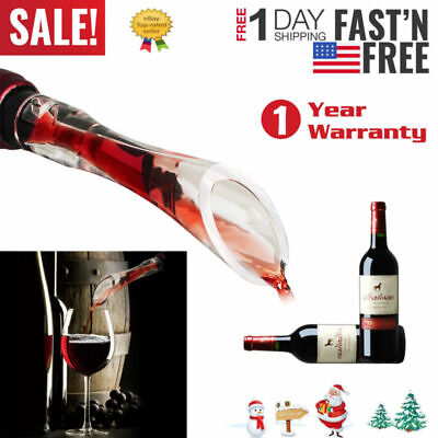 Portable Aerating Pourer Decanter Bottle Travel Air Red Wine Aerator