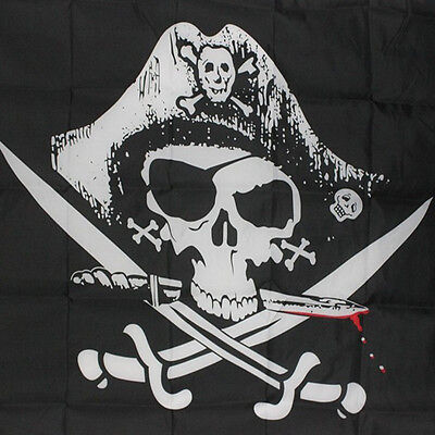 Stylish Huge 3x5FT Skull Cross Sword Pirate Flags Sabres Pirate flag Jolly Roger