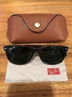 807e33e228a Ray-Ban New Wayfarer Classic Tortoise Polarized Sunglasses. RB2132 902 58  55-