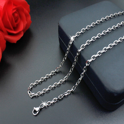 Hot Fashion 316L Stainless Steel 2mm/3mm/4mm/5mm Silver Smooth Chain Necklace