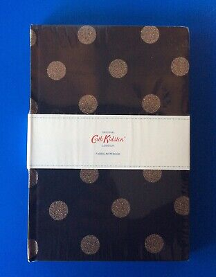 Original Cath Kidston A5 Fabric Notebook Spots-New & Sealed