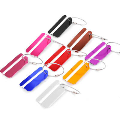 Travel Suitcase/Luggage Tags Labels Baggage ID Tag Name Card Holder Metallic KH8